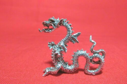 Highly Detailed Pewter Dragon Figurine