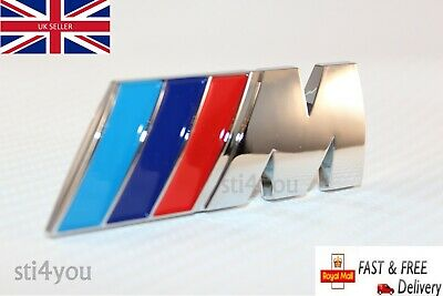 2x Wings Set} Chrome Metal Badge BMW 1,2,3,4 5 UK Stock //////M Sport { 1x Boot
