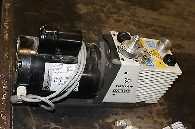 Varian Ds-102 Dual Stage Rotary Vane Vacuum Pump Ds102 Working