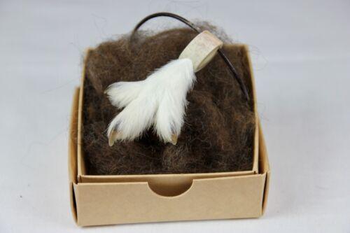 Ptarmigan foot, amulet necklace, Iceland, taxidermy
