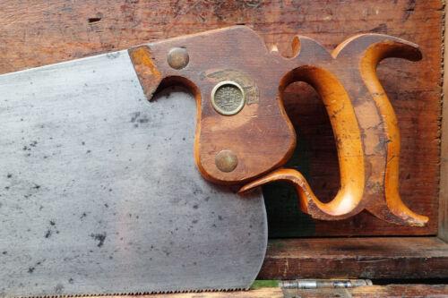 FRESHLY SHARPENED 22 inch DISSTON No 7 Carpenters handsaw 12 Pt FINE XCUT 1880s