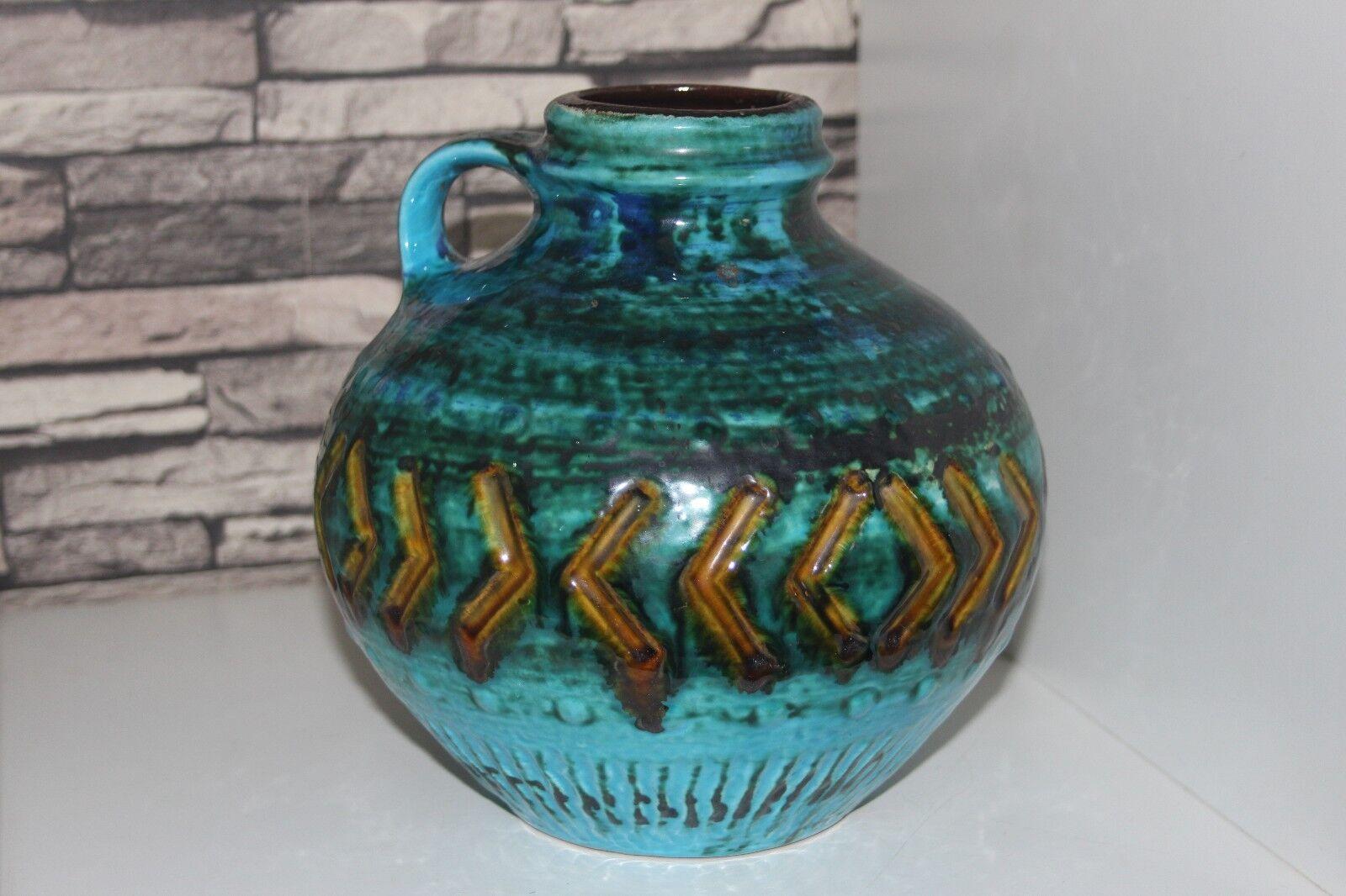 Carstens Bowl Vase Jug Tönnieshof , Keltoi Türkis 60er 70er Mid century 4520