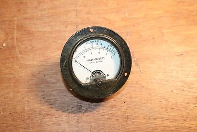 Vintage Mcclintock Co Ammeter Dc Milliamperes Kilowats Scale 0-10 Steampunk