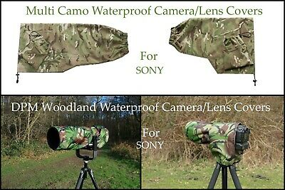 For SONY Range Waterproof Multi Camo or DPM Woodland Camera Lens Covers