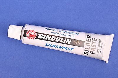 Bindulin Silbanpast 45 ml Silberpaste Herd Ofen Kamin Gartengrill Motorblock z1k