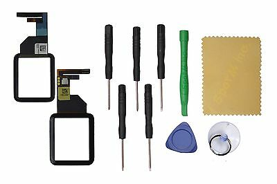 Black Front Glass Touch Screen Digitizer Replacement For Apple Watch 42mm+ Tool