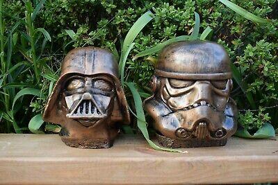Star Wars Darth Vader & Stormtrooper Stone Garden Ornaments -Free UK P&P