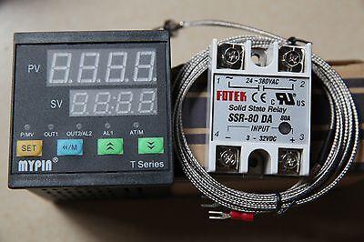 Digital Fc Pid Thermostat Temperature Controller Ta4-ssr K Sensor 80a Ssr