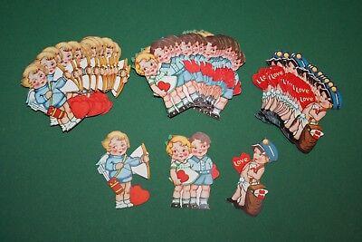 Valentin Kinder (60 Stück alte (3x20) ganz liebe Kinder Bilder aus Papier z.B. f. Valentinskarten)