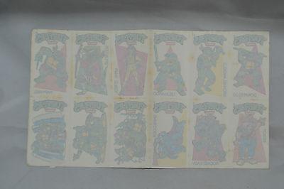 1991 Chupa Chups Teenage Mutant Ninja Turtles Set of 12 Temporary Tattoos ()