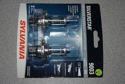 Sylvania Silverstar 9003/H4 Pair Set High Performance Headlight Bulbs NEW ()