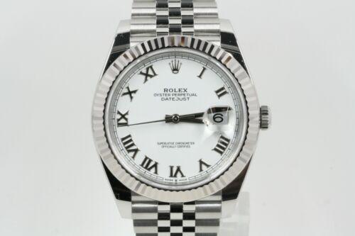 Rolex Datejust 41 Model 126334 White Roman Numeral Dial -unworn-