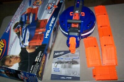 Nerf N-Strike Elite Hail Fire Blaster Dart Gun With 8 Clips TESTED DISCONTINUED