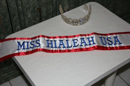 Pageant Sash Miss Hialeah USA Tel Air Era