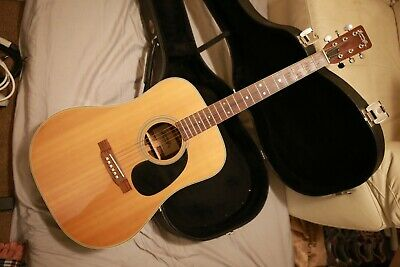 Vintage 1970s Tokai Hummingbird Custom W-250 Acoustic Guitar w/ Hard Case