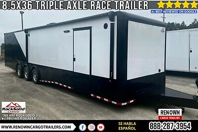 8.5x36 Triple Axle Enclosed Race Car Trailer Car Hauler Toy Hauler