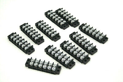 10 Bussman 6 Circuit Termial Block Connectors Terminals Barriers Lot Of 10