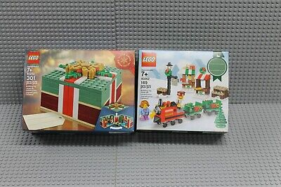 Lego Lot of 2 Christmas Sets! 40262 Train and 40292 Limited Edition Box! Retired