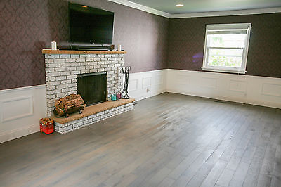 European Snow-white Oak Stained Husky Brushed Oiled Hardwood Wood Flooring Sample