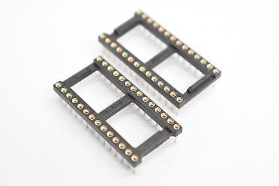 Augat 1828-ar111d 28 Pin Machine Ic Socket 16-000480-03 Lot Of 11