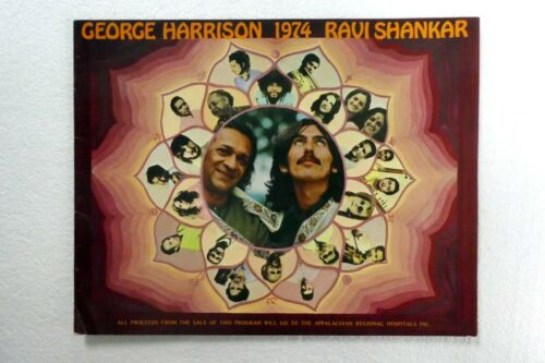 GEORGE HARRISON 1974 Ravi Shankar TOUR book Booklet Concert Program  #723
