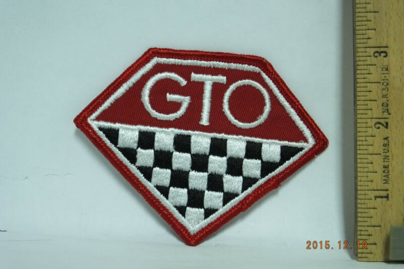 """Vintage GTO Patch  Sew-On Embroidered Patch  3.75""""x3"""""""