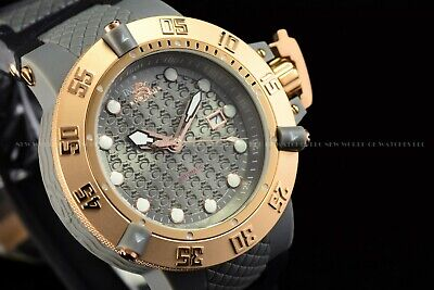 Invicta 50mm Subaqua Noma III Grey Rose Gold Automatic NH35A Screw Down Watch