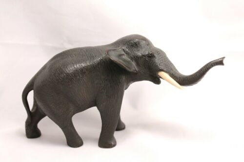 Antique Japanese Bronze Elephant Figurine Meiji Period Mark 1868-1912