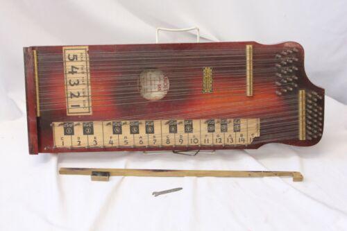 Wood Pianoette Pianolin Autoharp  Orig Label w/Original Box Antique Vintage