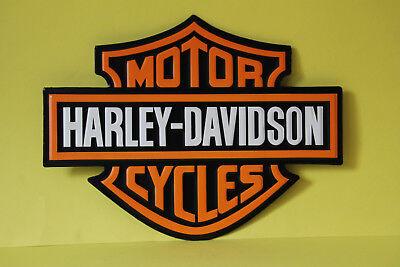 Harley Davidson Motor Cycles geprägtes Blechschild Schild Werbung 40 x 30,5 cm
