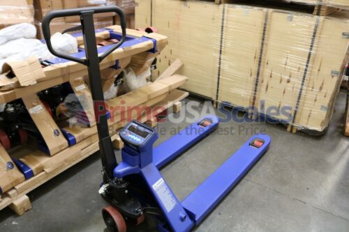 5 Year Warranty Pallet Jack Scale with Built-in PRINTER 2,500 x 1 lb Capacity