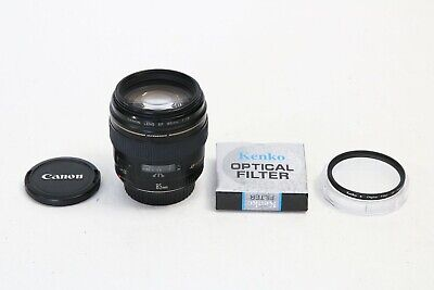 Canon EF 85mm f/1.8 USM Lens SHARP EOS DIGITAL l 5D 7D 80D Rebel + BONUS 58mm UV