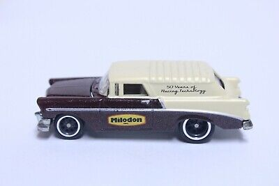 HOT WHEELS '55 CHEVY NOMAD W/ REAL RIDERS VERY NICE MILODON RACING TECHNOLOGY