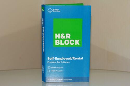 H&R Block 2020 Self-Employed Rental Premium Tax Software Federal & State NO CD