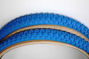 OLD SCHOOL BMX TYRES COMP 3 SKIN WALL CST SOLD IN PAIRS BLUE 20 X 1.75 SOLD X2