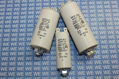 MIFLEX Motorkondensator 25µF-80µF 450V (Anlaufkondensator / Betriebskondensator)