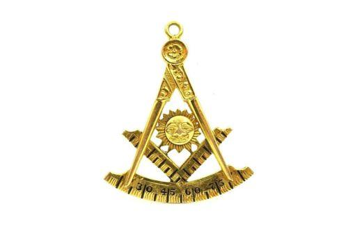 Vintage 10k Yellow Gold Masonic Vandalia Michigan 290 Watch Fob Pendant