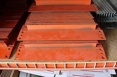 68 Pcs. Of Pallet Rack 16 Row Spacers - Orange Color - In Used Condition
