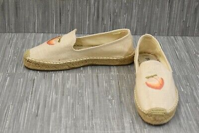 Soludos Peach Bum Smoking 1000522 Flats - Women's Size 9.5, Natural