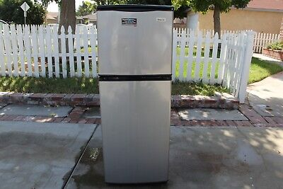 Magic Chef 4.0 cu. ft. Two Door Stainless Steel Compact Refrigerator Mini Fridge