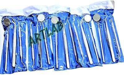 5 German Basic Dental Sets- Explorer Probedental Mirrorcollege Cotton Plier