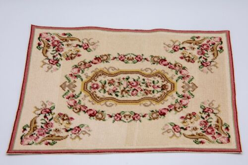 1 INCH SCALE DOLLHOUSE  PETIT POINT  RUG