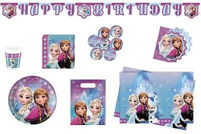 �nigin Elsa und Anna Party Set Geburtsagsset Kinder Geburtstag (Frozen Party Set)