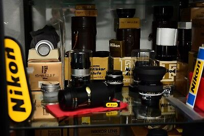 nikon 6 lenses ai/s, 99,8% mint and NOS, filters,boxed, manuals/papers,film/digi