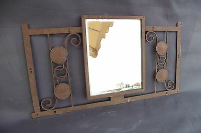 ANTIQUE MIRROR FORGED IRON 60'S