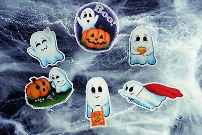 Halloween Party Planner (Ghost Halloween Stickers Pack Waterproof Party Favors Laptop Decal Planner)