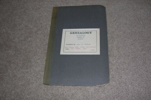 1881 Genealogy Jonathan Fabens Family of Marblehead MA by George Perkins