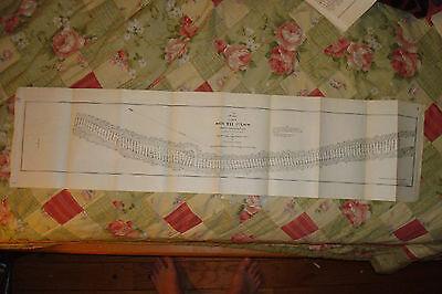 CARROLLTON MISSISSIPPI RIVER LOUISIANA ANTIQUE MAP NR