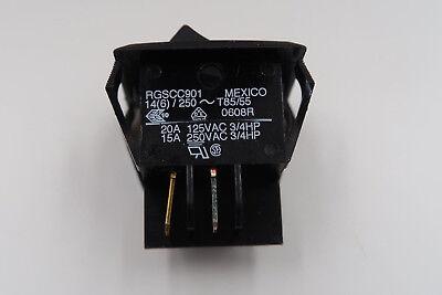 Carling Technologies Rgscc901 Switch Rocker Dpdt 20a 250v Black