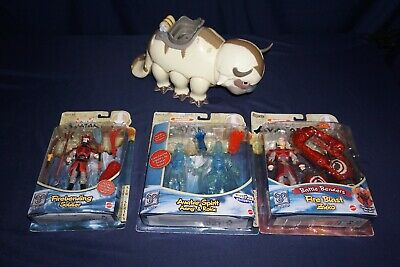 Lot 3Pcs AVATAR Airbending Aang// BLUE SPIRIT ROKU// FIRE NATION SOLDIE figure toy
